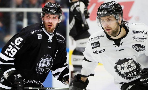 Jonne Virtanen ja Jerry Ahtola pelasivat yhtä aikaa TPS:ssä.