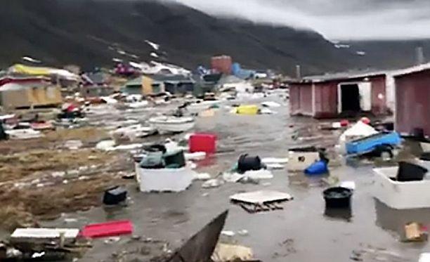 Grönlannin länsirannikolla on tapahtunut luonnonkatastrofi.