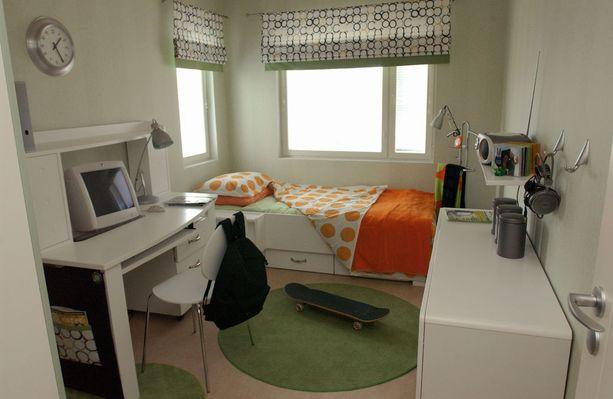 Nuoren huone Kotkan asuntomessuilla vuonna 2002.