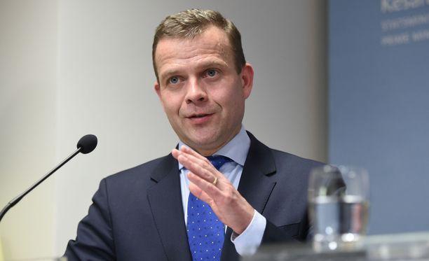 Ministeri Petteri Orpo (kok) esitteli valtiovarainministeriön budjettiehdotuksen päälinjat tiedotustilaisuudessa keskiviikkona. Kuvituskuva