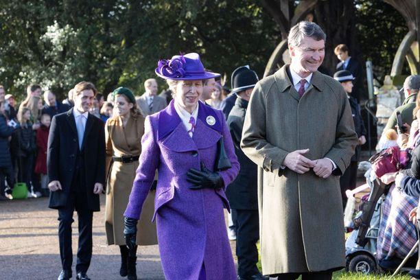 Prinsessa Anne ja Timothy Laurence jouluna 2019.