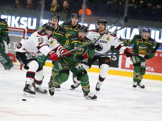 Ässät katkaisi tappioputkensa Tampereella perjantaina. Ilves kaatui jatkoajalla 3-2.
