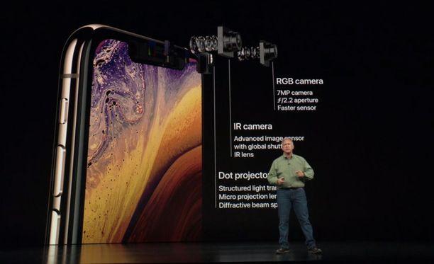 Tapahtumassa esiteltiin muun muassa uuden Iphonen kameran ominaisuuksia.