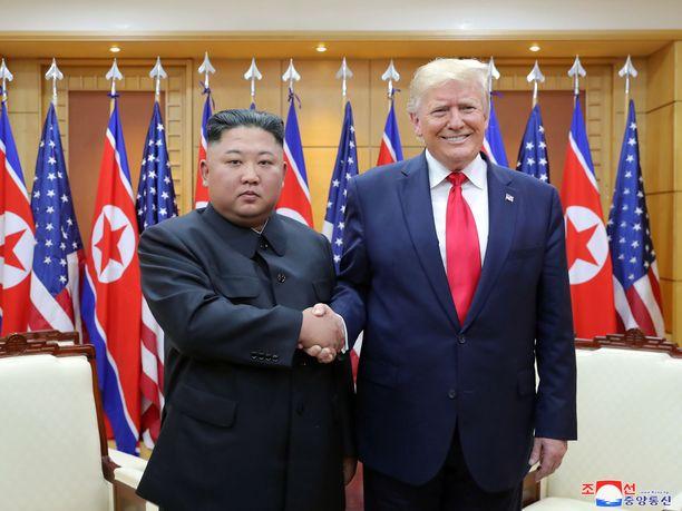 Donald Trump on iloinen, että Kim Jong-un on palannut.