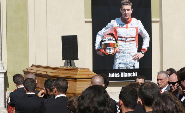 Jules Bianchia hautajaiset järjestettiin tänään Nizzassa.
