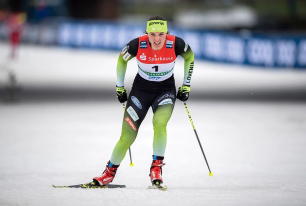 Eva Urevc Dresdenin maailmancupkilpailussa tammikuussa.