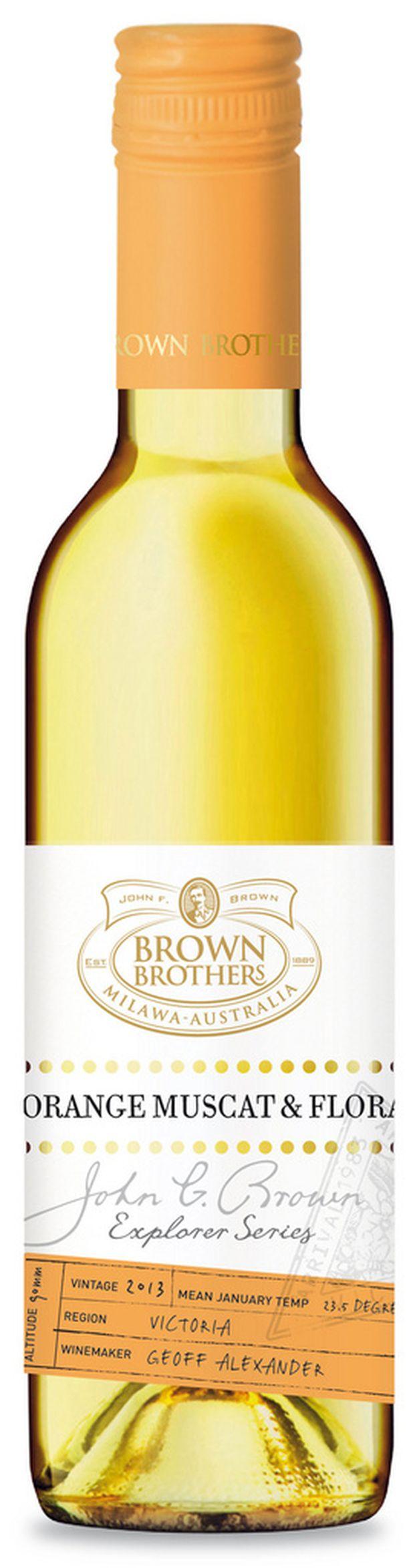 Brown Brother orange muscat & flora (37,5 cl), 13,49 euroa.