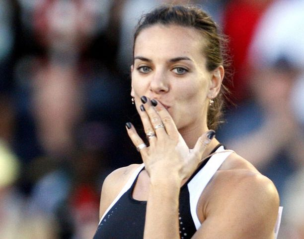Jelena Isinbajeva oli lähellä uutta maailmanennätystä.