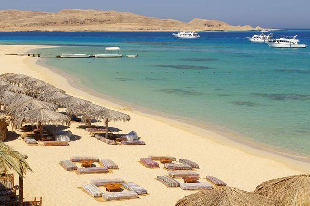Idylliseen Mahmyan saareen tehdään retkiä Hurghadasta käsin.