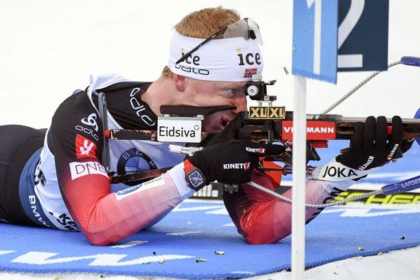 Johannes Bö ampui täydellisen rivin Kontiolahdella torstaina.