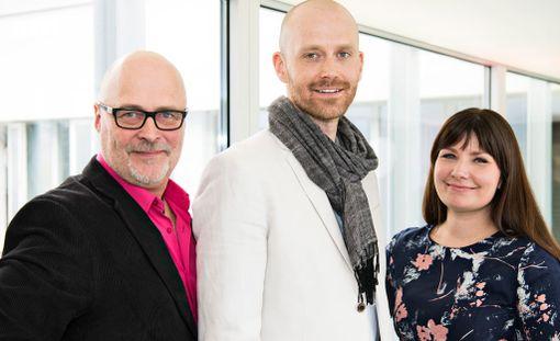 Kuvassa asiantuntijat Tony Dunderfelt, Jason Lepojärvi ja Elina Tanskanen.