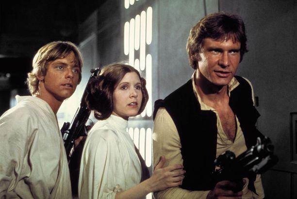 Mark Hamill, Carrie Fisher ja Harrison Ford olivat ensimmäisten Tähtien ota -elokuvien sankarit.