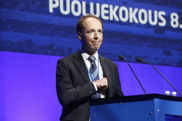 Perussuomalaisten puheenjohtaja Jussi Halla-aho.