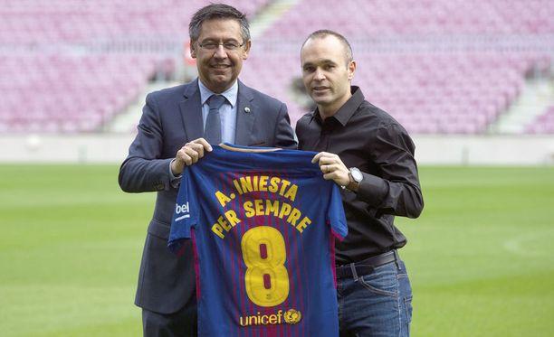 Andrés Iniesta, per sempre - ikuisesti.