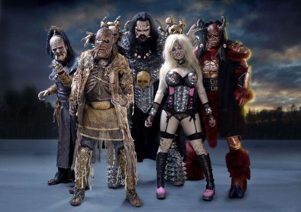 Lordiin kuuluvat Mr. Lordin rinnalla Amen, Mana, Ox ja Hella.