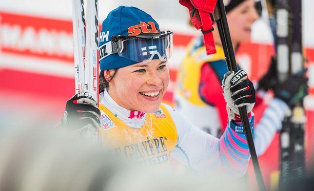 Krista Pärmäkoski oli kolmas perinteisen kympillä Lillehammerin maailmancupkisassa.