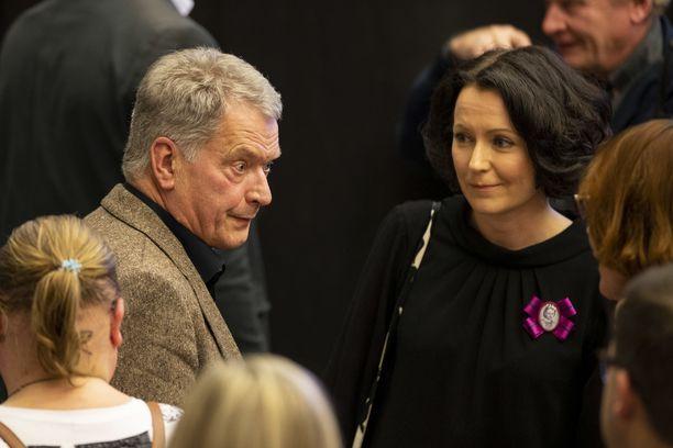 Sauli Niinistö osallistui omaan keskustelutilaisuuteensa, Jenni Haukio omaan paneeliinsa.