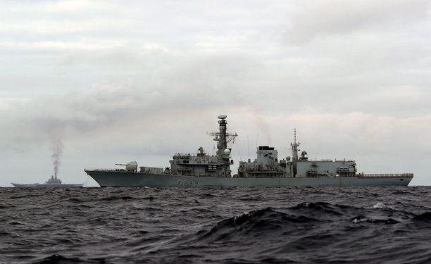 Lentotukialus Admiral Kuznetsov on matkalla Syyriaan.