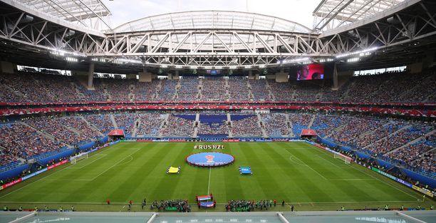 Pietarin jalkapallostadion oli yksi neljästä Confederations Cupin areenasta. Myös finaali pelattiin Pietarissa.