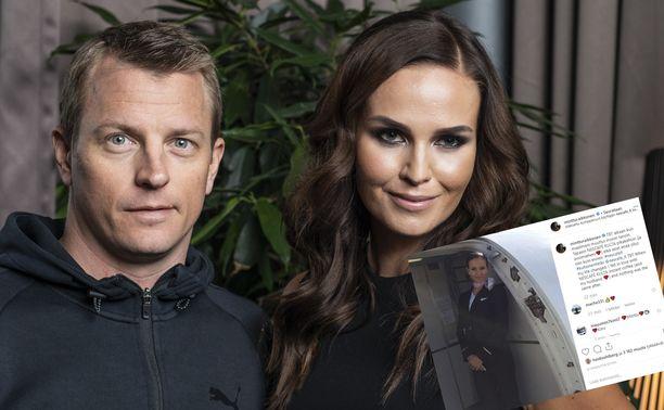 Kimi ja Minttu Räikkönen Gugguu lastenvaatemerkin pressitilaisuudessa.
