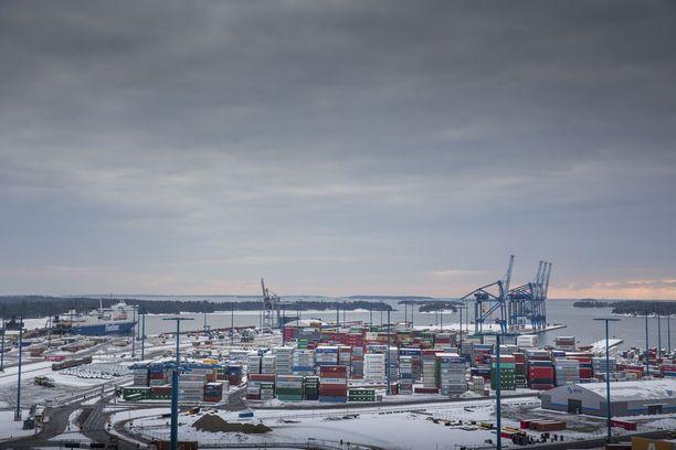 Työtaistelu uhkaa sulkea viisi satamaa. Helsingin satama on ainakin toistaiseksi työtaistelun ulkopuolella.