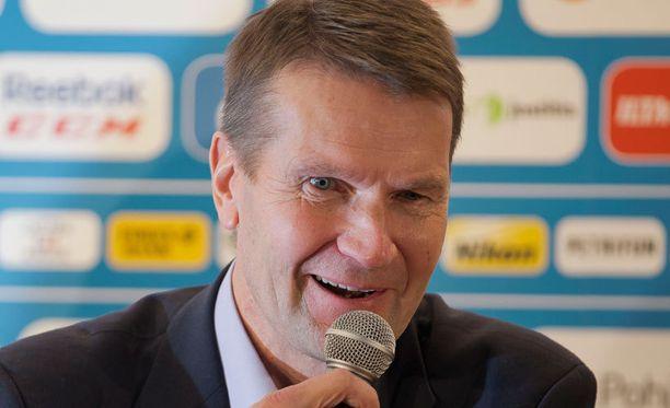 Erkka Westerlund oli tyytyväinen mies Venäjä-ottelun jälkeen.