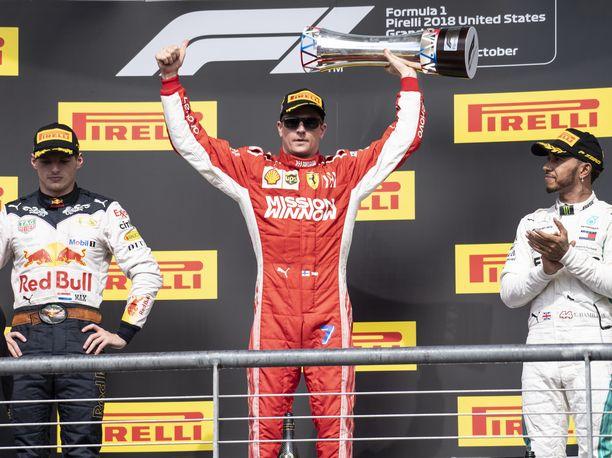 Kimi Räikkönen palasi GP-voittajaksi pitkän odotuksen jälkeen.