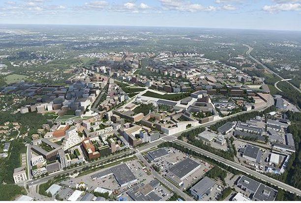Tältä näyttää Malmin lentokentän alueelle rakennettavan Nallerinteen asuinalue.