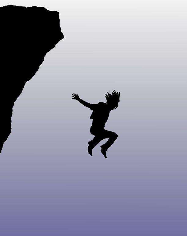 Se, kuinka korkeasta pudotuksesta selviää hengissä on pääasiassa kiinni onnesta.