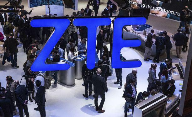 ZTE:n osasto Barcelonan mobiilimessuilla viime helmikuussa.