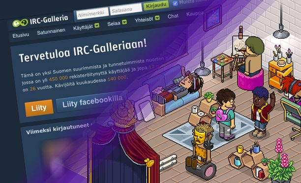 Habbo ja IRC-Galleria ovat varmasti monelle 2000-luvulla varttuneelle tuttuja.