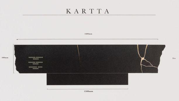 Perttu Saksan teos Kartta voitti suunnittelukilpailun.