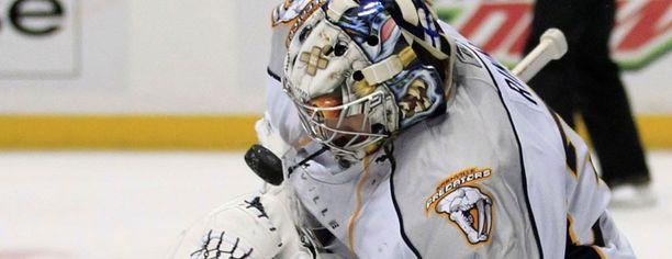 """Saku Koivu teki Anaheimin ainokaisen ja """"pilasi"""" Pekka Rinteen nollapelin."""