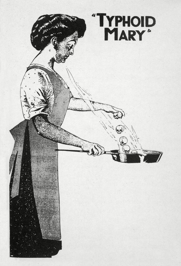 """""""Lavantauti-Marysta"""" piirrettiin myös pilakuvia. Tästä terveeksi itsensä mieltänyt nainen ei ymmärrettävästi ilahtunut."""