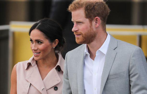 Prinssi Harryn ja herttuatar Meghanin sivuprofiilit muistuttavat toisiaan.