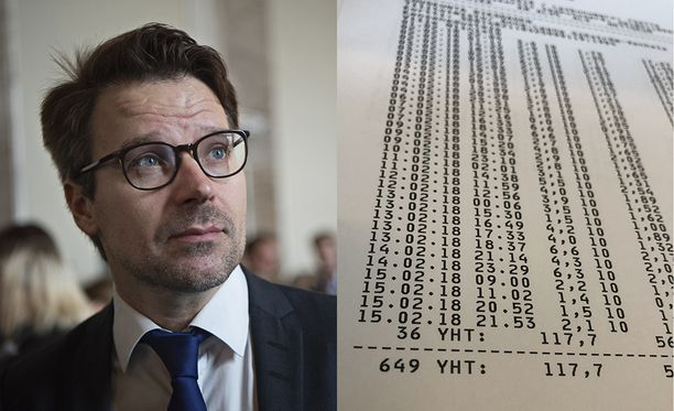 Vihreiden kansanedustaja ja entinen puheenjohtaja Ville Niinistö on ajanut tällä vaalikaudella huomattavan paljon taksilla.