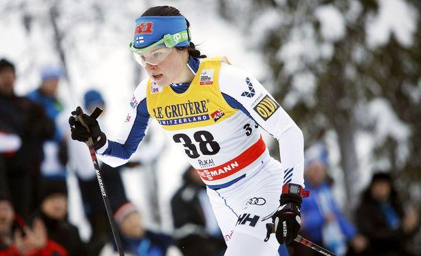 Krista Pärmäkoski on Tour de Skin voittajasuosikki.