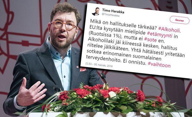 Timo Harakan mukaan Jaana Pelkonen protestoi liian myöhään. Harakka kirjoitti Twitterissä, että Saarikko ilmoitti selvästi eduskunnassa 14. joulukuuta, että hallitus kysyy EU:lta kantaa etämyyntikieltoon.