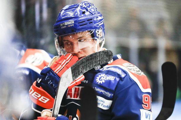 Sebastian Repo pelasi Tapparassa kausilla 2016–2017 ja 2017–2018.
