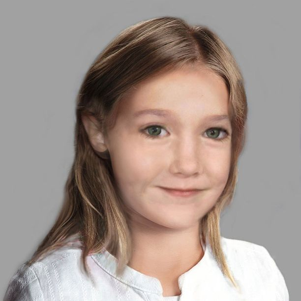 Taiteilijan näkemys siitä, miltä Madeleine olisi voinut näyttää vanhempana.