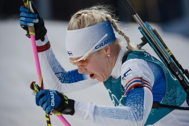 Kaisa Mäkäräinen voitti kotimaisemissa.