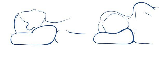 Millennium-tyyny on hyvä valinta sekä selällään että kyljellään nukkujalle.
