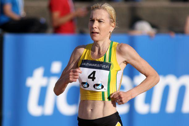 Laura Manninen voitti lauantaina puolimaratonin Suomen mestaruuden. Kuva viime kesältä.