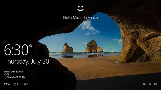 Windows Hello -tunnistautuminen oli jo aiemmin käytössä tietokoneissa ja tableteissa. Uusilla kännyköillä se toimii tunnistamalla käyttäjän silmät.