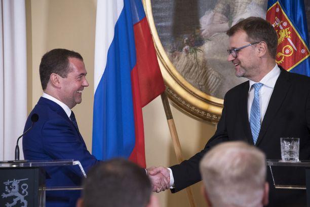 Dmitri Medvedev ja Juha Sipilä tapasivat keskiviikkona neljännen kerran.