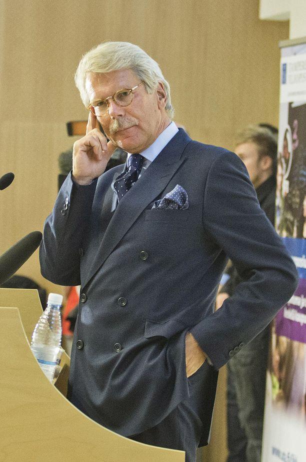 Sammon, Nordean ja UPM:n hallitusten puheenjohtaja Björn Wahlroos tunnetaan vauhdikkaana esiintyjänä.