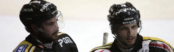 Ross Lupaschuk (vas.) ja Josef Boumedienne ovat vanhoja tuttuja Kärpistä.