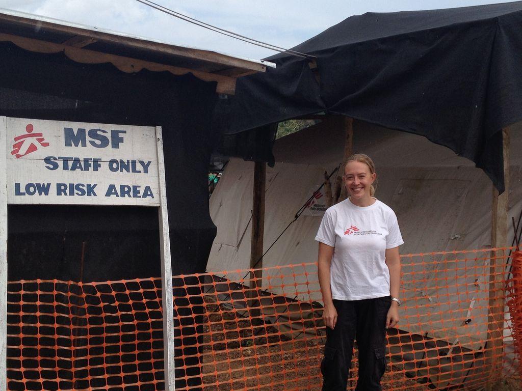 Sairaanhoitaja Piia Laitiainen oli Sierra Leonessa viiden viikon ajan.