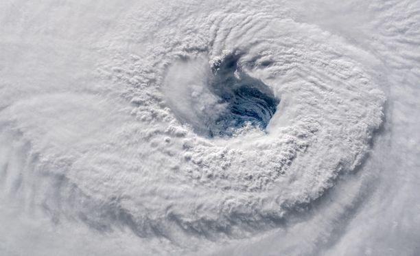 Hurrikaani Florence avaruudesta käsin kuvattuna.