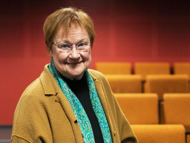 Presidentti Tarja Halonen.